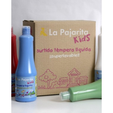 Kit témpera líquida La Pajarita (6 colores)