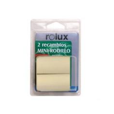 2 recambios Mini Barnizar Parquet Rolux 6 cm