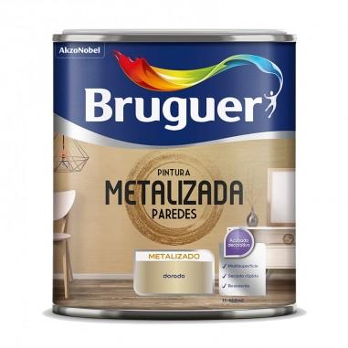 Pintura metalizada paredes Bruguer