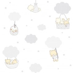 Papel pintado animales nubes 072CAN Candy Decoas