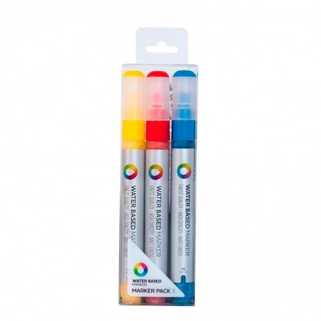 Pack 3 Water Based Markers 3 mm Montana
