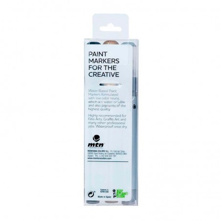 Pack 3 Water Based Markers metalizados 3 mm Montana