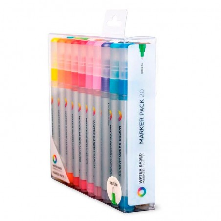 Pack 20 Water Based Markers 3 mm Montana