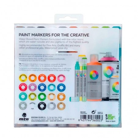 Pack 20 Water Based Markers 5 mm Montana