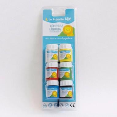 Blister témpera líquida (6 x 25 ml)...