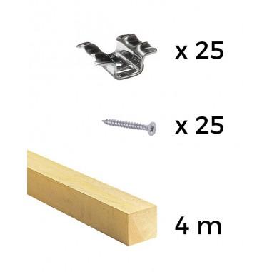 Kit rastreles + grapas + tornillos