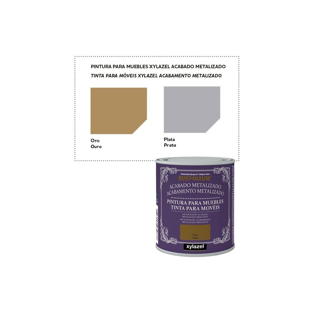 Xylazel pintura muebles acabado metalizado for Pintura color topo